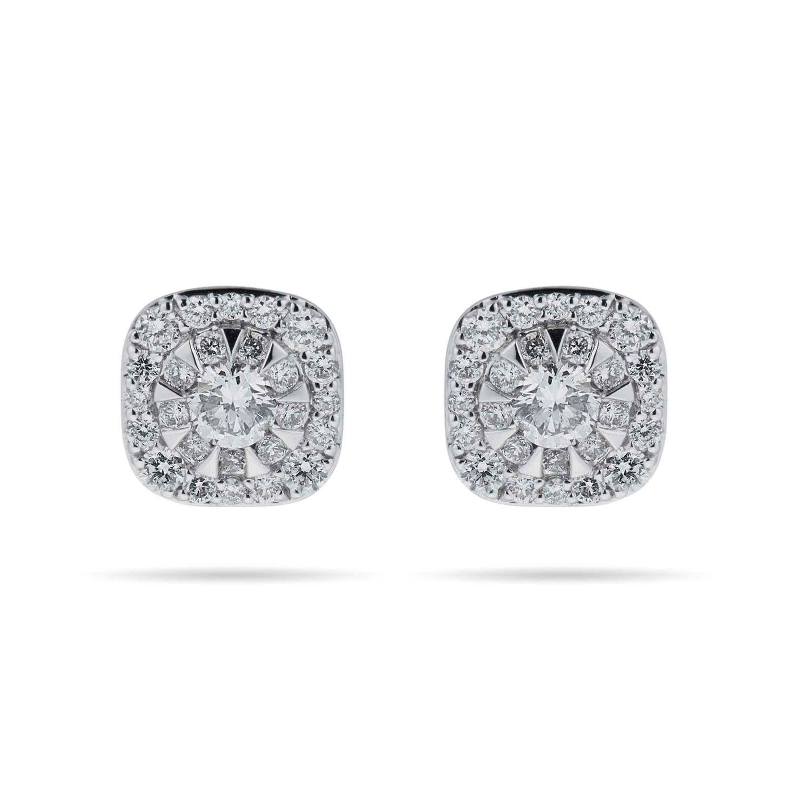 Masquerade 18ct White Gold 0 61cttw Diamond Stud Earrings