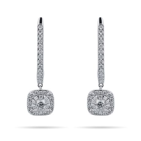 Masquerade 18ct White Gold 0.87cttw Diamond Drop Earrings