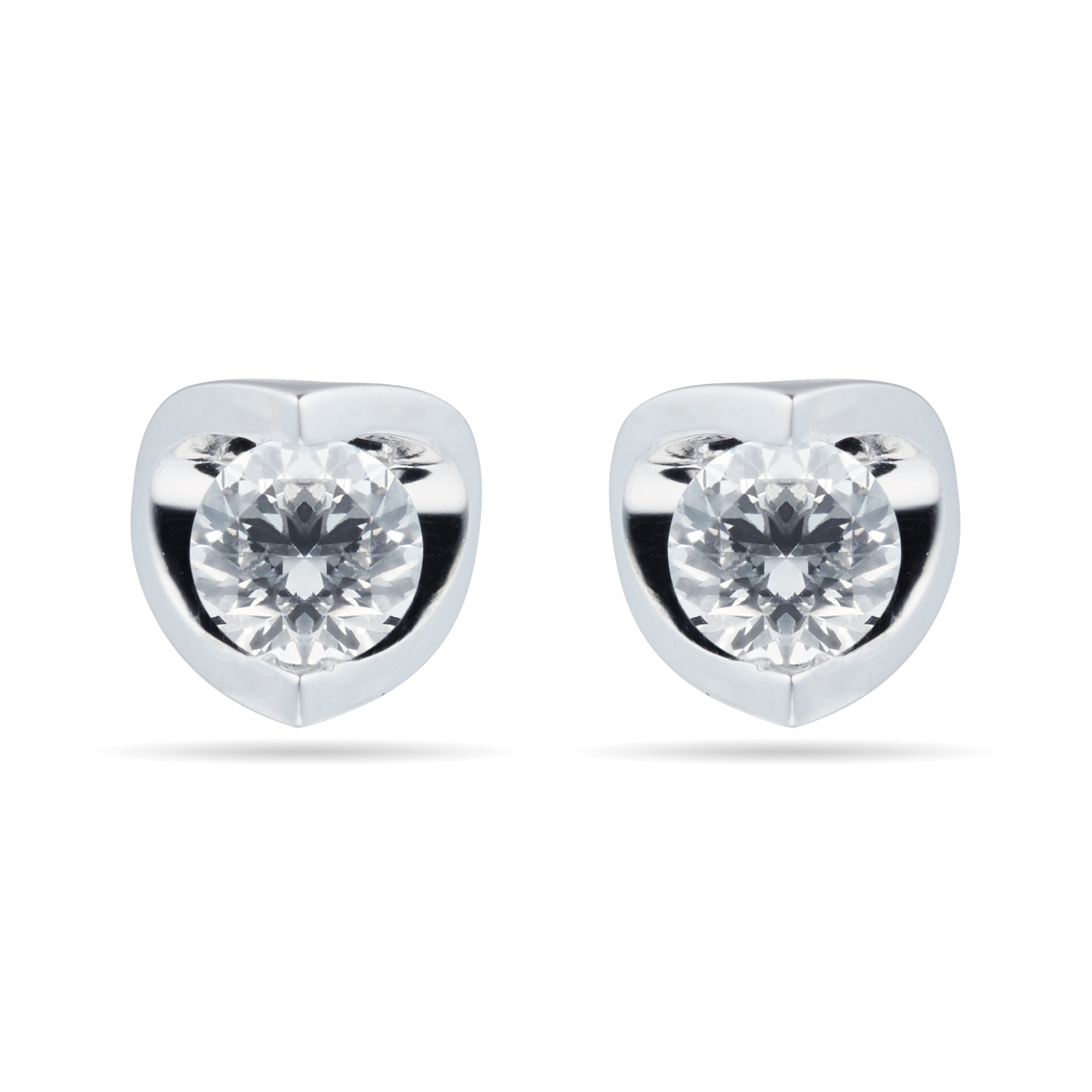 9ct White Gold 0.30ct Tension Set 88 Facet Diamond Earrings