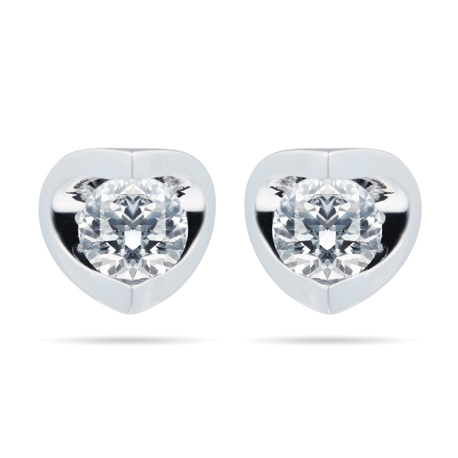 18ct White Gold 0.40ct Tension Set 88 Facet Diamond Earrings