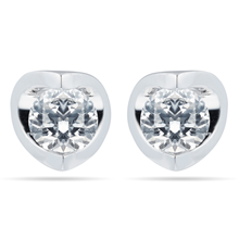 9ct White Gold 0.70ct Tension Set Goldsmiths Brightest Diamond Earrings