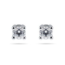 18ct White Gold 0.25cttw Goldsmiths Brightest Diamond Solitaire Stud Earrings