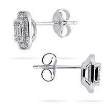 9ct White Gold 0.30cttw Mixed Cut Diamond Stud Earrings