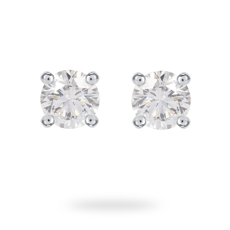 18ct White Gold 1.00ct Brilliant Cut Stud Earrings