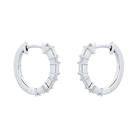 Renee 18ct White Gold 0.39cttw Diamond Hoop Earrings
