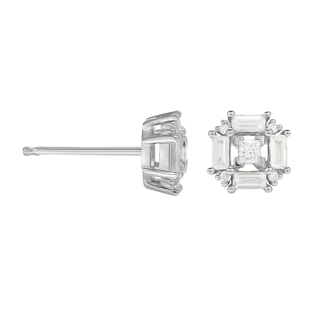 Renee 18ct White Gold 0.45cttw Diamond Cluster Stud Earrings
