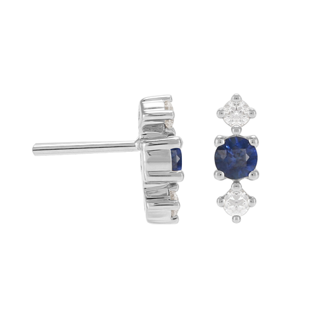 Carrington 18ct White Gold Sapphire & Diamond Stud Earrings
