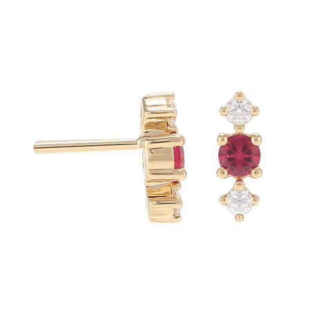 Carrington 18ct Yellow Gold Ruby & Diamond Stud Earrings