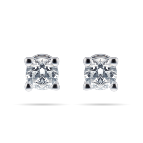 9ct White Gold 0.30cttw Diamond Solitaire Stud Earrings