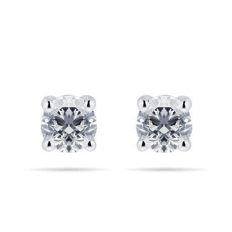 Mappin & Webb 18ct White Gold 1.00cttw Diamond Stud Earrings