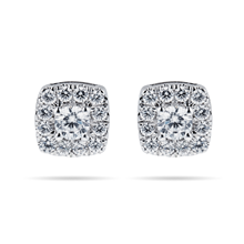 For Her - 9ct White Gold 0.50cttw Diamond Multi Stone Stud Earrings - 12152966