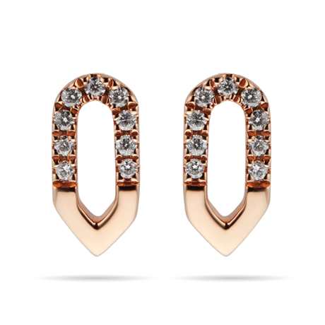 Harmony 18ct Rose Gold 0.10cttw Diamond Stud Drop Earrings