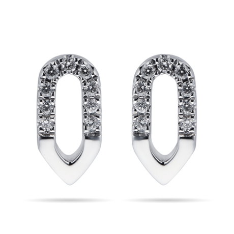 Harmony 18ct White Gold 0.10cttw Diamond Stud Drop Earrings