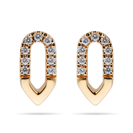 Harmony 18ct Yellow Gold 0.10cttw Diamond Stud Drop Earrings