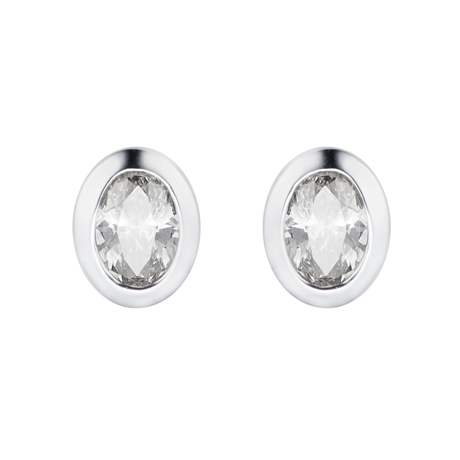 9ct White Gold 0.18cttw Diamond Stud Earrings