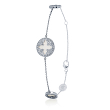 Treasure Empress 18ct White Gold Mother of Pearl Bracelet