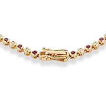 9ct Yellow Gold Ruby and Diamond Tennis Bracelet