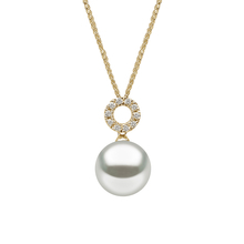 Yoko 18ct Yellow Gold Pearl 0.09ct Diamond Pendant