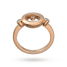 Chopard Happy Diamonds 18ct Rose Gold Ring Size N