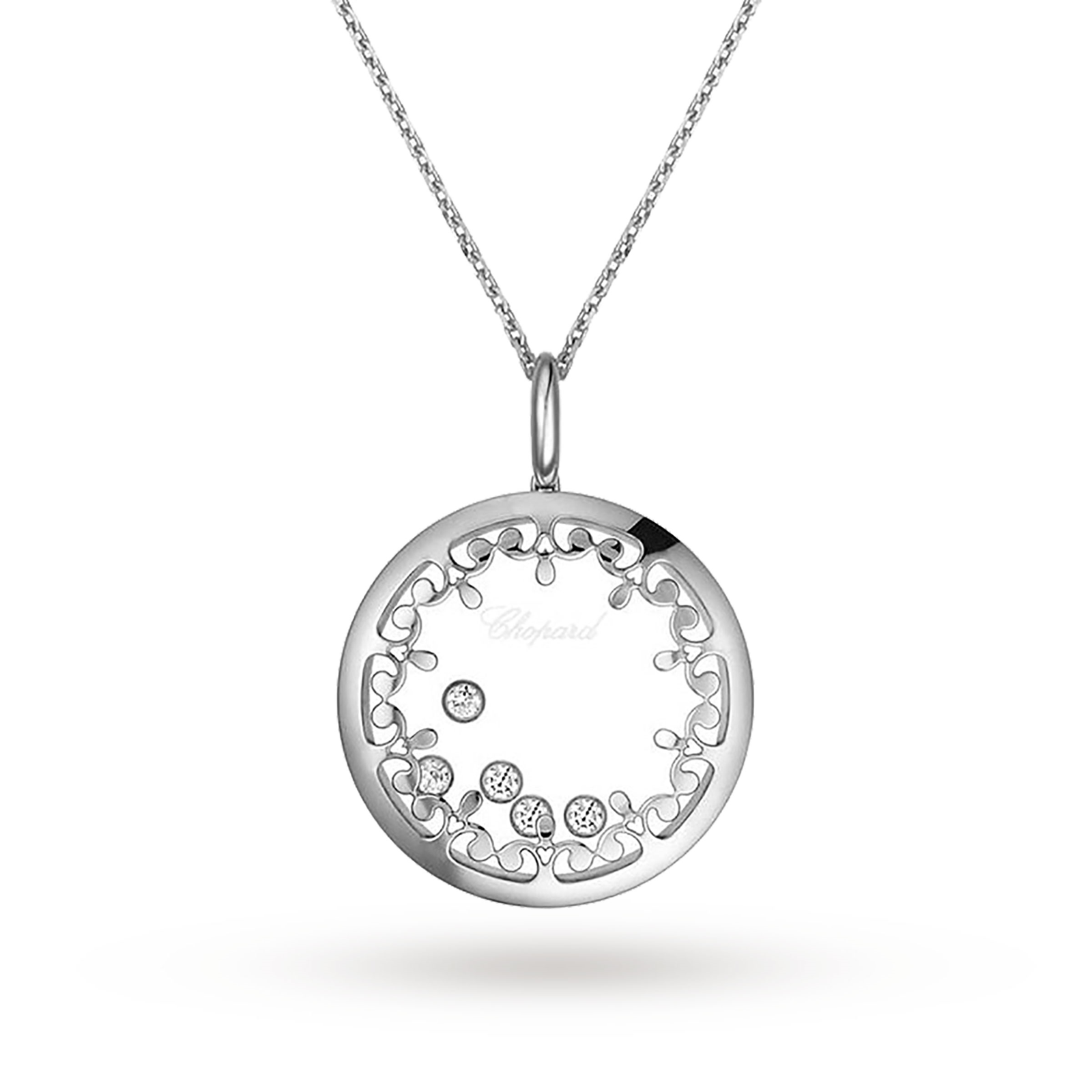5c64d7699be1a Chopard Happy Diamonds 18ct White Gold Pendant | Necklaces | Jewellery |  Goldsmiths