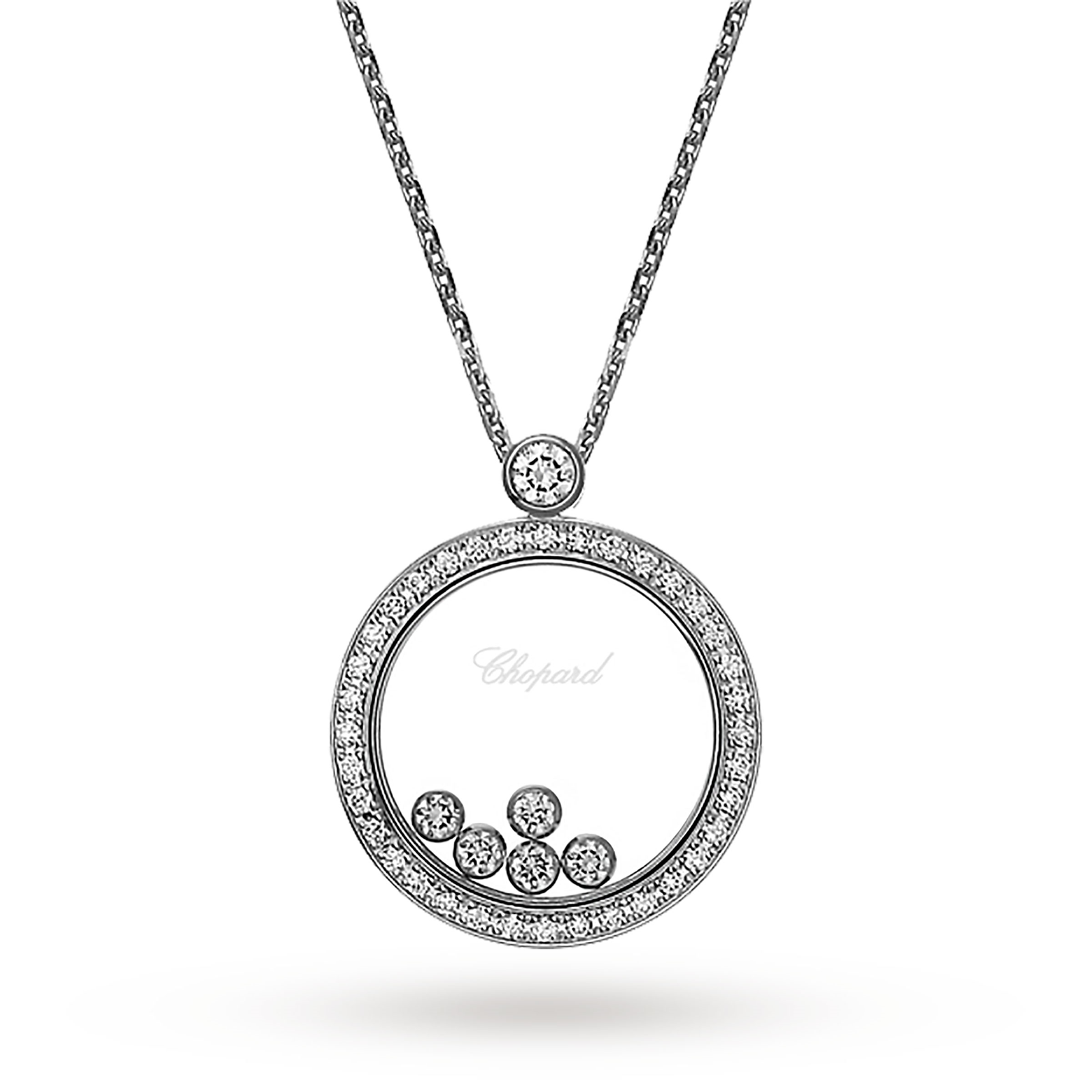 Chopard happy diamonds 18ct white gold pendant necklaces chopard happy diamonds 18ct white gold pendant aloadofball Gallery