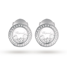 Chopard Happy Curves 18ct White Gold Diamond Earrings