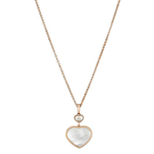 Chopard Happy Hearts 18ct Rose Gold Mother of Pearl Diamond Pendant