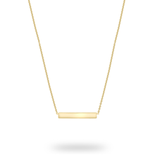 9ct Yellow Gold Horizontal Bar Pendant