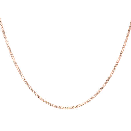 9ct Rose Gold 45cm (18