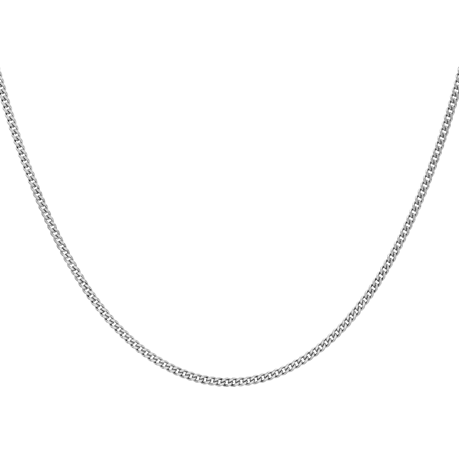 9ct White Gold 40-45cm (16-18