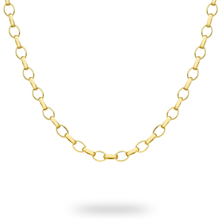 9ct Yellow Gold Large Oval Belcher 41cm Chain