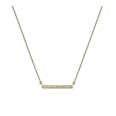 9ct Yellow Gold Cubic Zirconia Bar Pendant