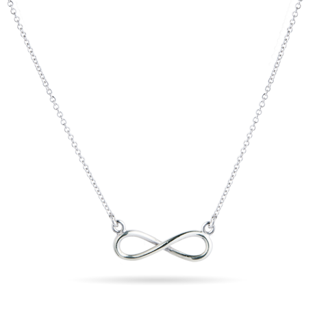 9ct White Gold Infinity Pendant