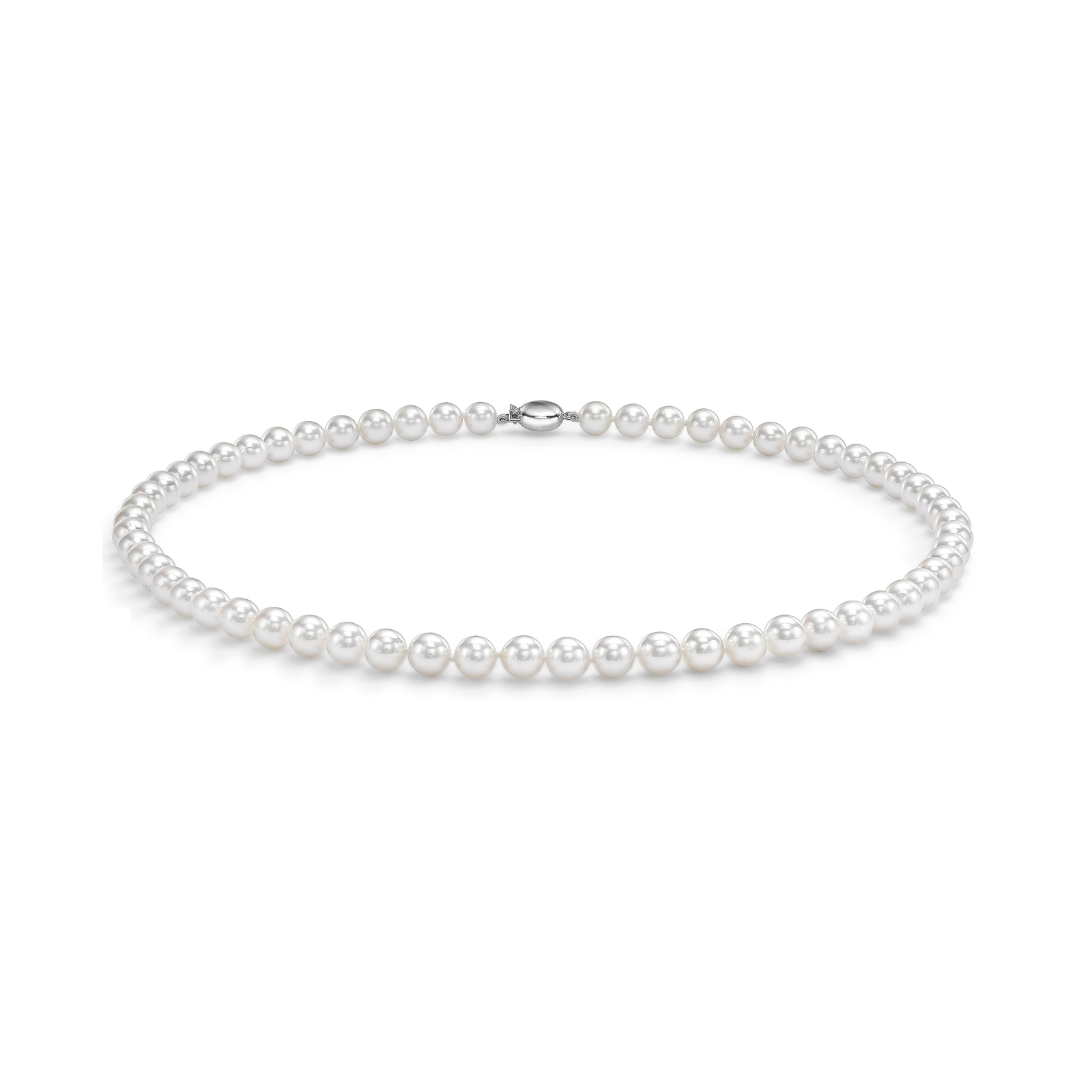 18ct White Gold 8.5-9.0mm AAA Akoya Pearl Necklace