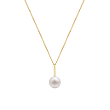 For Her - 9ct Yellow Gold Pearl Drop Bar Pendant - S30287A09Y