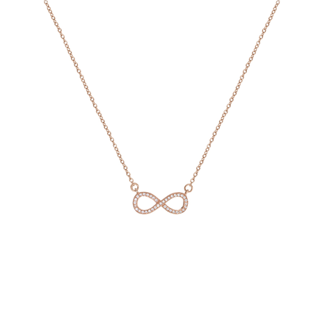 Rose Gold Plated Infinity Necklace
