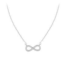 For Her - Silver Cubic Zirconia Infinity Necklace - 8.19.3240