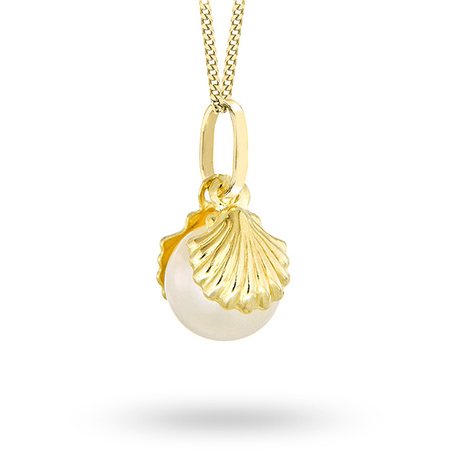 For Her - 9ct Yellow Gold Pearl Pendant - 14080006