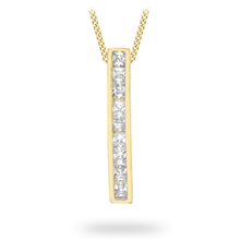 9ct Yellow Gold Bar Drop Pendant
