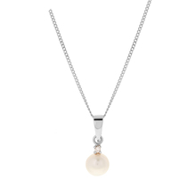 9ct White Gold Pearl Pendant