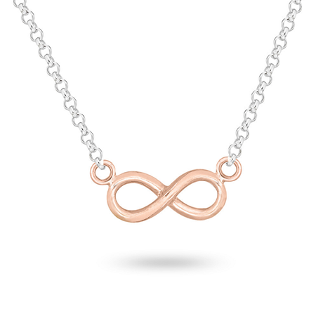 Silver And Rose Gold Plated Infinity Pendant
