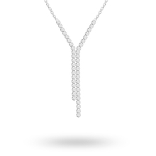 Silver Cubic Zirconia Drop Necklace