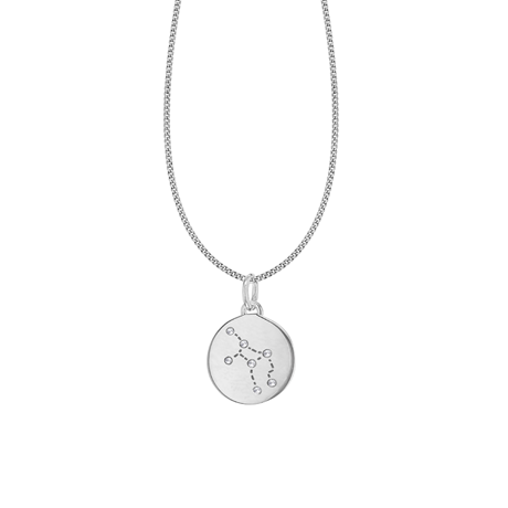 Silver Virgo Star Constellation Pendant
