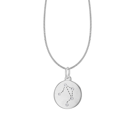 Silver Libra Star Constellation Pendant