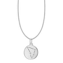 Silver Capricorn Star Constellation Pendant