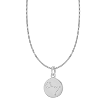 Silver Pisces Star Constellation Pendant