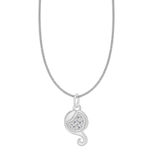 Silver Virgo Star Sign Pendant