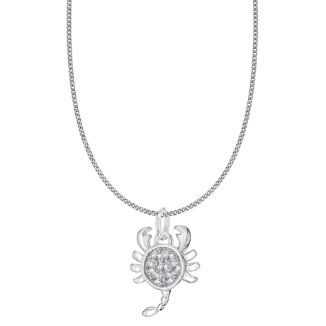 Silver Scorpio Star Sign Pendant