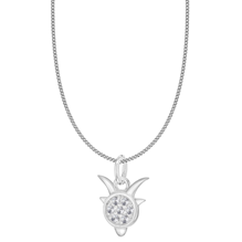 Silver Capricorn Star Sign Pendant