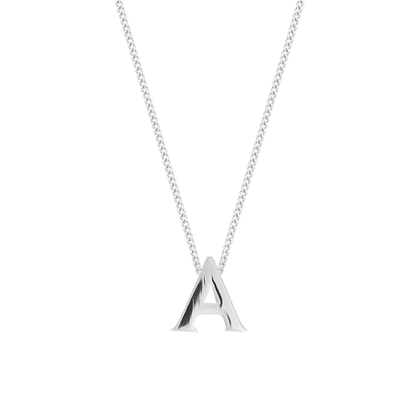 Sterling Silver Letter A Pendant